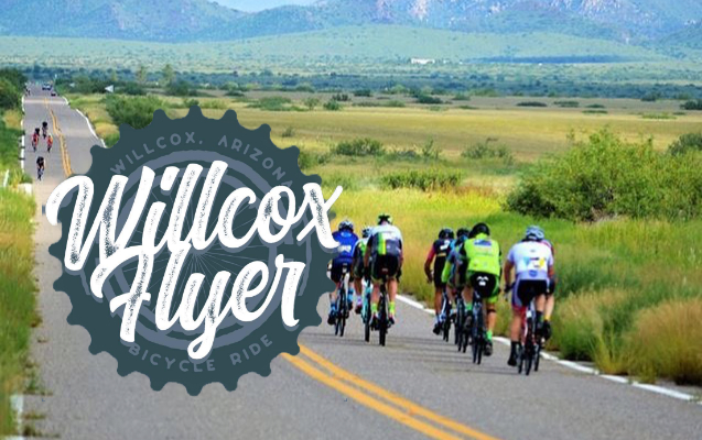 Picture of the Willcox Flyer logo and participants on Highway 186
