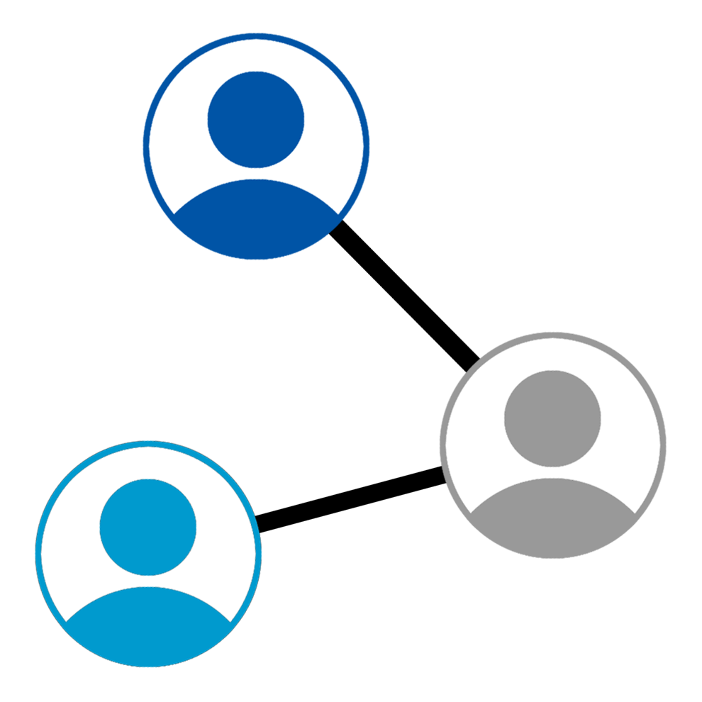 Diagram of connecting users